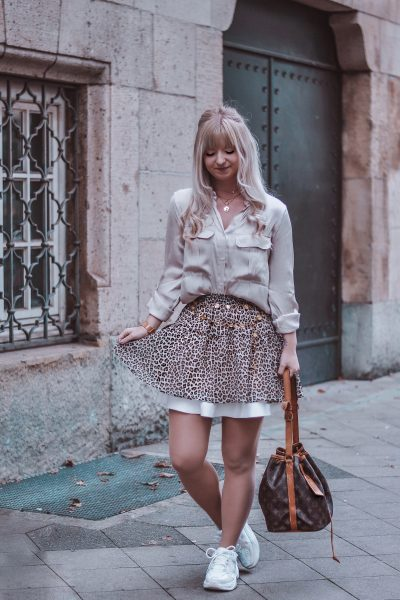 AUTUMN OUTFIT: ANIMAL-PRINT SKIRT